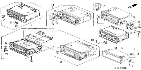 Honda online store : 2000 crv radio (1) parts