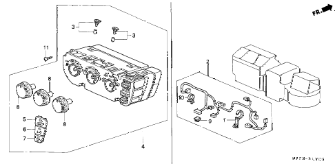 Honda online store : 1997 crv heater control parts