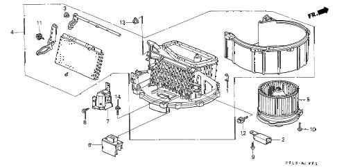 Honda online store : 2000 crv heater blower parts