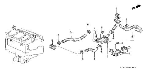 Honda online store : 1998 crv water valve parts
