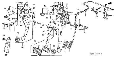 Honda online store : 2001 crv pedal parts