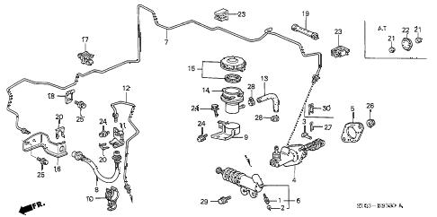 Honda online store : 1998 crv clutch master cylinder (1) parts