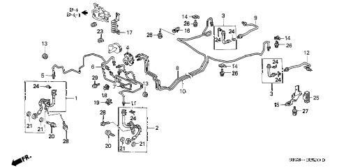 Honda online store : 1999 crv brake lines parts