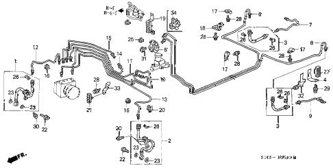 Honda online store : 1997 crv brake lines (abs) parts
