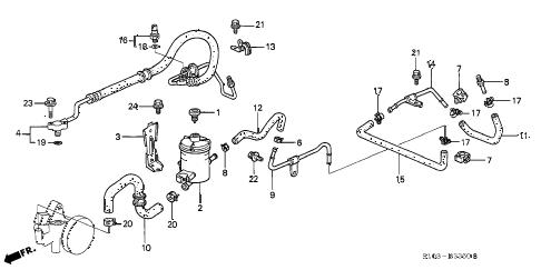 Honda online store : 1998 crv p.s. pipe parts