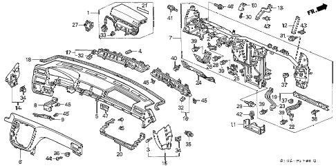 Honda online store : 2001 crv instrument panel parts