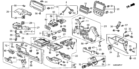 Honda online store : 1998 crv instrument garnish parts
