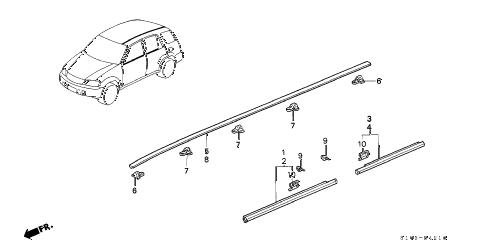 Honda online store : 2001 crv molding parts