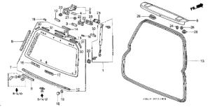 Honda online store : 1997 crv rear windshield parts