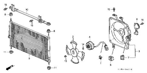 Honda online store : 1997 crv a/c condenser parts