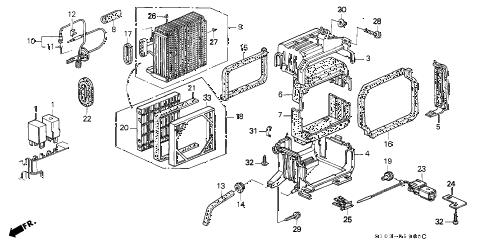 Honda online store : 2000 crv a/c cooling unit parts