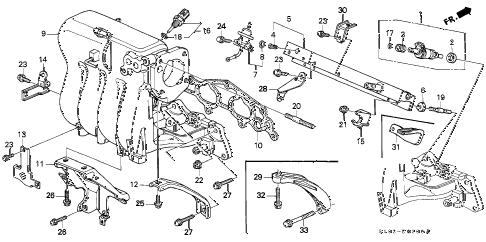 Honda online store : 1997 crv intake manifold (1) parts