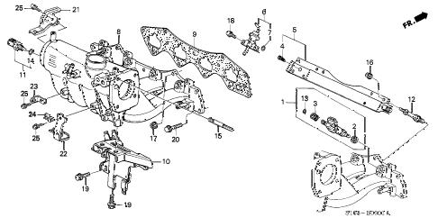 Honda online store : 1999 crv intake manifold (2) parts
