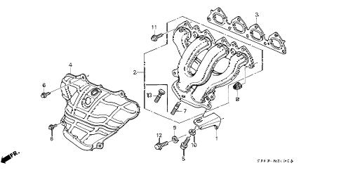 Honda online store : 1998 crv exhaust manifold (1) parts