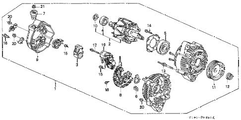 Honda online store : 1998 crv alternator (denso) parts