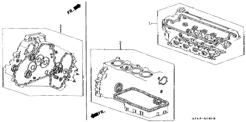 Honda online store : 1999 crv gasket kit parts