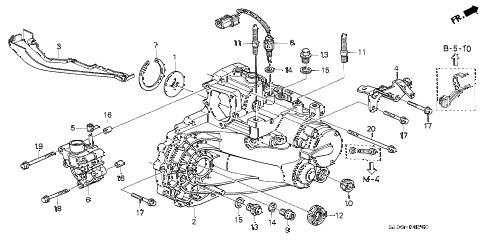 Honda online store : 2000 crv mt transmission housing parts