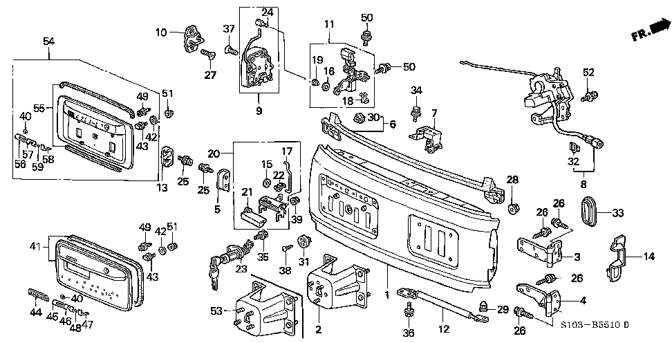 99 CR-V rear door help
