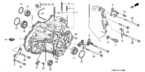 Honda online store : 1998 prelude at transmission housing