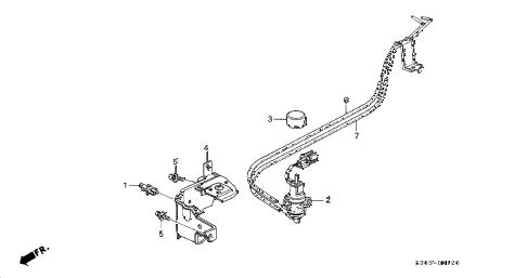 Honda online store : 2000 prelude egr control device parts