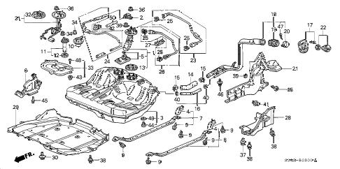 Honda online store : 1998 prelude fuel tank (1) parts