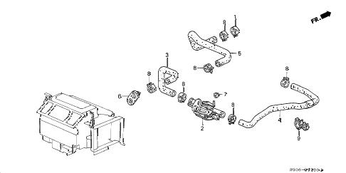 Honda online store : 1999 prelude water valve parts