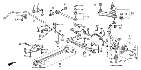Honda online store : 1998 prelude rear lower arm parts