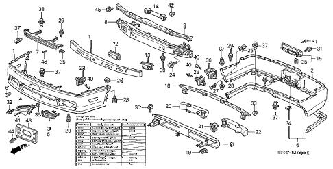 Honda online store : 1997 prelude bumper parts