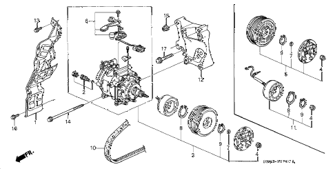 Honda online store : 2000 prelude a/c compressor parts