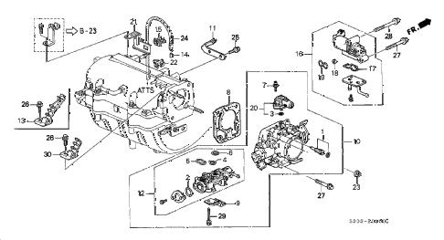 Honda online store : 1997 prelude throttle body parts