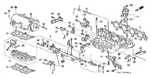 Honda online store : 1998 prelude intake manifold parts