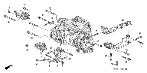 Honda online store : 1998 prelude alternator bracket parts