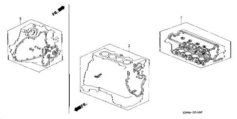 Honda online store : 1998 prelude gasket kit parts