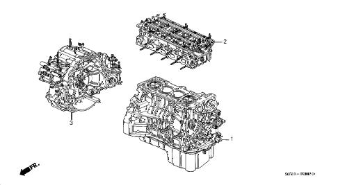 Honda online store : 1998 prelude engine assy
