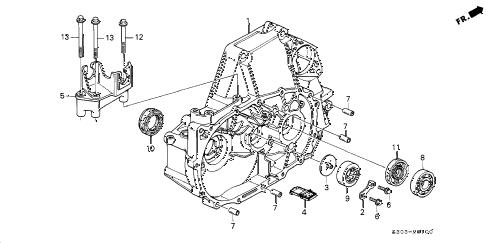 Honda online store : 2000 prelude mt clutch housing parts