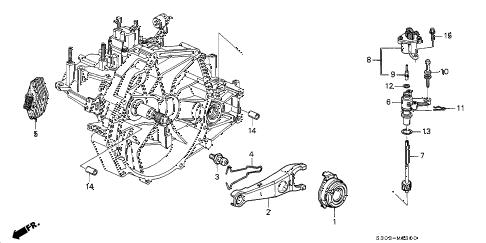Honda online store : 1998 prelude mt clutch release parts