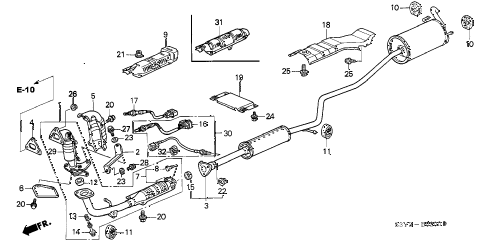 Honda online store : 2001 insight exhaust pipe parts