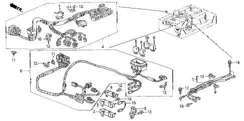 Honda online store : 2000 insight ima wire harness parts