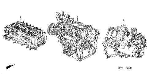 Honda online store : 2000 insight engine assy