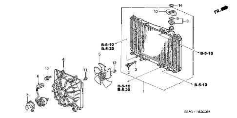 Honda online store : 2002 civic radiator (denso) parts