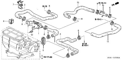 Honda online store : 2002 civic water valve parts