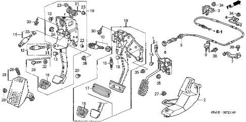 Honda online store : 2001 civic pedal parts