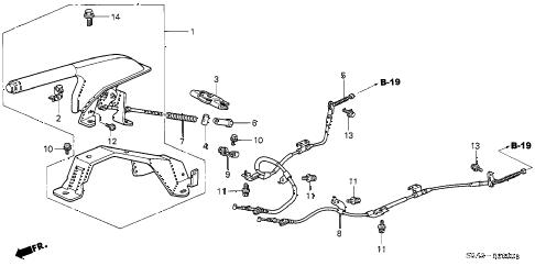 Honda online store : 2001 civic parking brake (1) parts