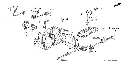 Honda online store : 2001 civic select lever (1) parts