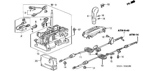 Honda online store : 2001 civic select lever (2) parts