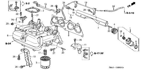 Honda online store : 2001 civic intake manifold (2) parts