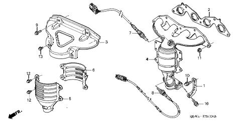 Honda online store : 2001 civic exhaust manifold (sohc) parts