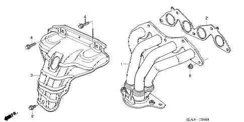 Honda online store : 2003 civic exhaust manifold (vtec) parts