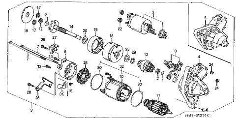 Honda online store : 2001 civic starter motor (denso) parts