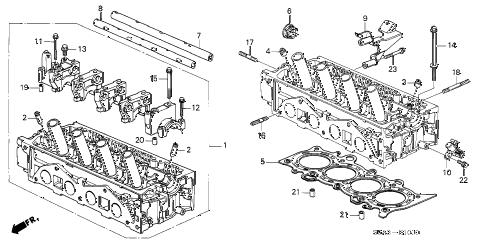 Honda online store : 2001 civic cylinder head (sohc) parts
